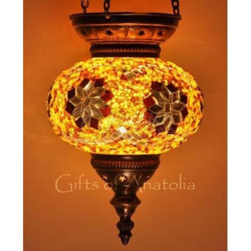 Hanging Mosaic Lantern Single Lamp