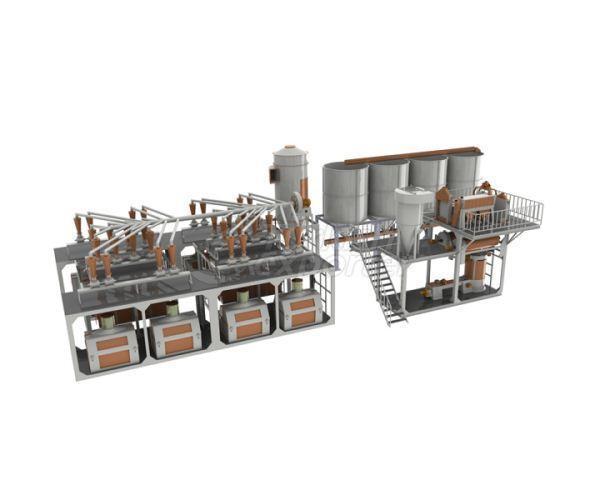 Flour Factory 115-120 Ton-Day
