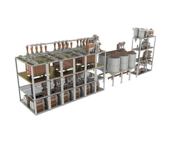 Flour Factory 180-200 Ton-Day