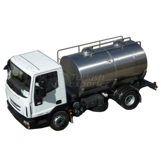 Milk Transport Tanks on Trailer