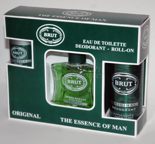 Perfume Set (EDT+DEO+Roll On) Brut