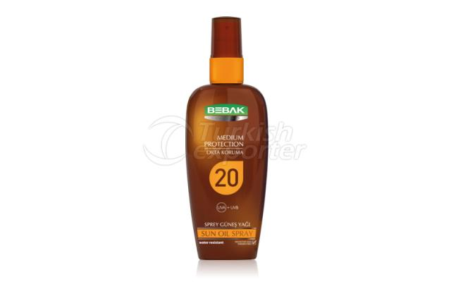 Sun Oil 20 SPF Sprey Bebak 150ml