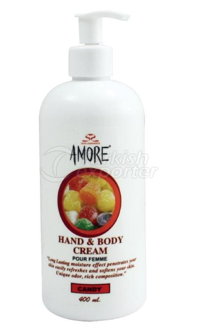 Hand-Body Cream Amore 400ml