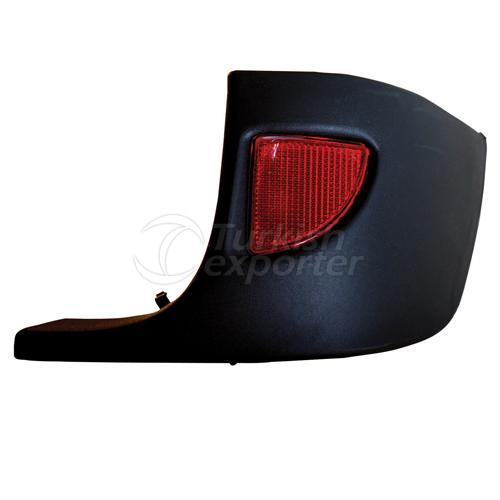Rear Bumber Corner Strap With Reflector Right - Renault / Kangoo