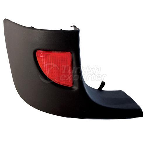 Rear Bumber Corner Strap With Reflector Left - Renault / Kangoo