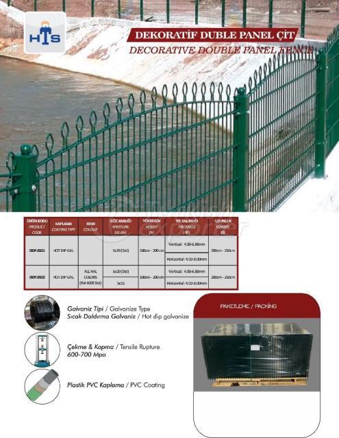 Decorative Panel Fence