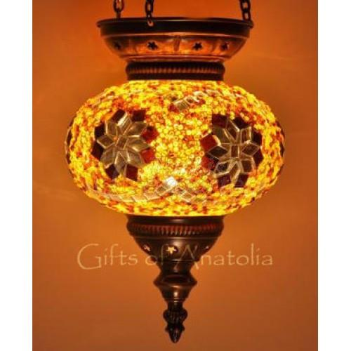 Hanging Mosaic Lantern Single Lamp