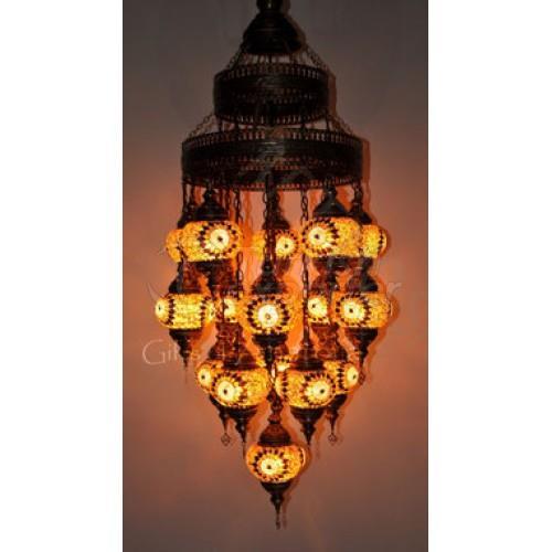 Hanging Mosaic Lantern