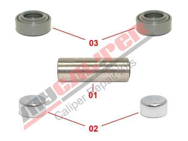 Caliper Guide & Dust Cover Repair Kit Meritor