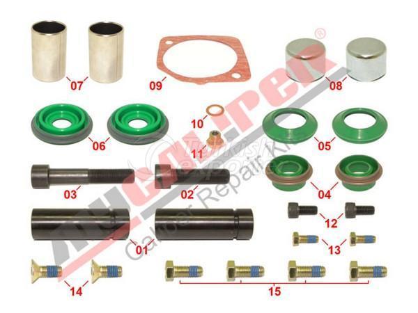 Caliper Complete Overhaul Repair Kit Meritor