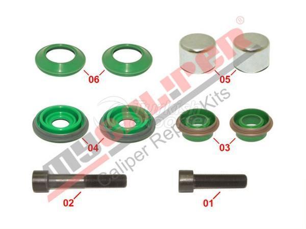 Caliper Boots, Caps & Screws Repair Kit Meritor