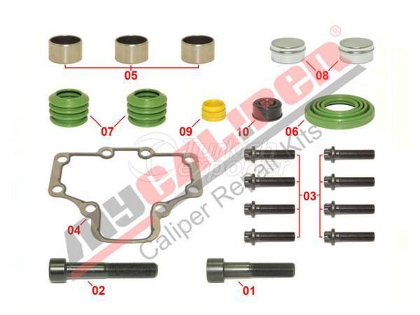 Caliper Guides & Seals Repair Kit Wabco