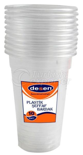 Plastic Transparent Glass 10 Ous P-0065