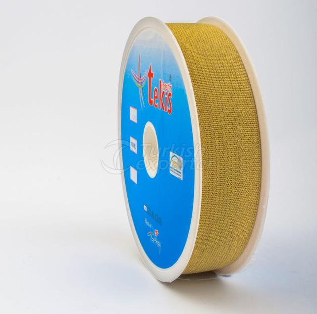 Silvery Elastic Tape