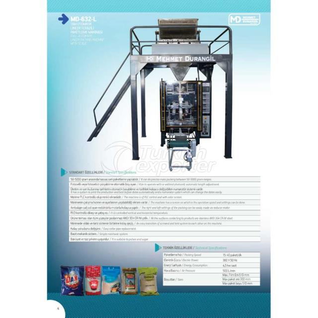 MD-632-L FULL AUTOMATIC LINEER PACKING MACHINE