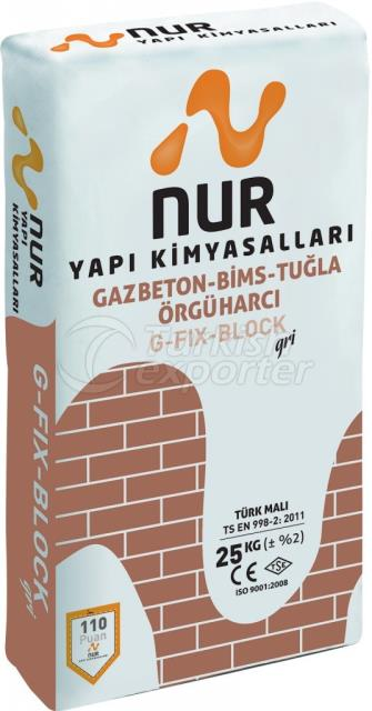 Pumice Brickwork Mortar G -FIX-BLOCK