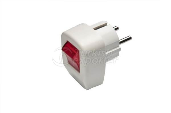 Male Plug Switch with Light