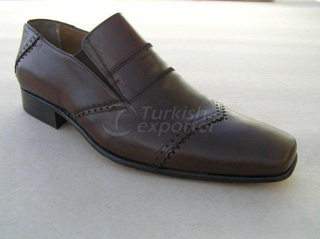 Men Shoe Summer Season Stout Leather Base Elastic Neck