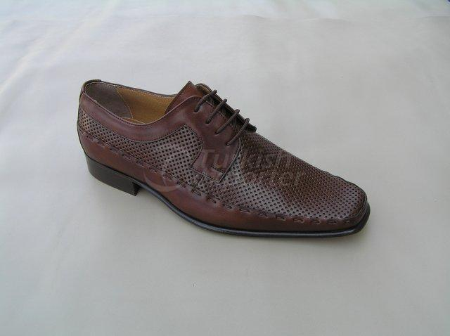 Men Shoe Summer Season Stout Leather Base Handwork Perforated Pattern