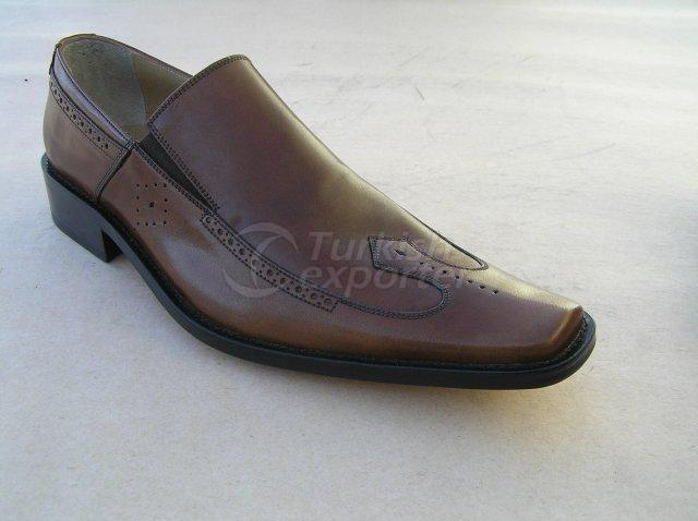 Men Shoe Summer Season Stout Leather Elastic Neck