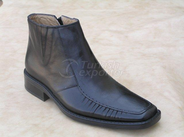 Men Shoe Winter Season Thermo Base Handwork Shirred with Zipper