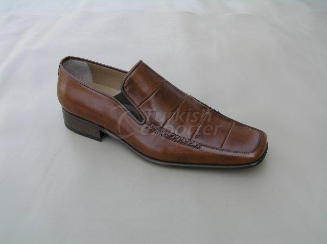 Men Shoe Summer Season Stout Leather Base Elastic Neck Handwork