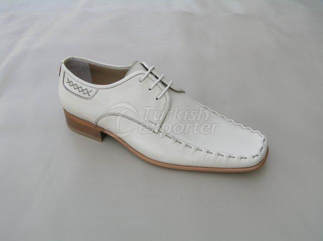 Men Shoe Summer Season Stout Leather with Lace and Handwork