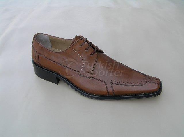 Men Shoe Summer Season Stout Leather Perforated Pattern with Tie