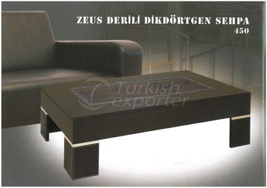 Zeus Leather Rectangle Coffee Tables