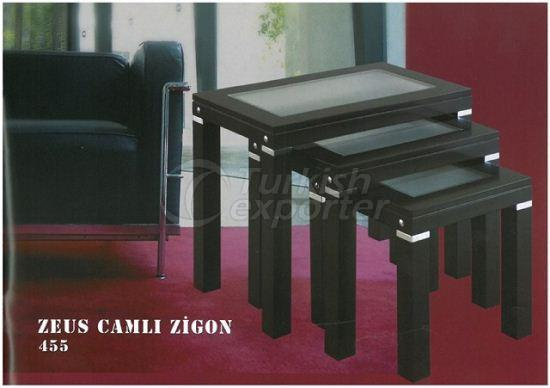 Zeus Glass Nested Table