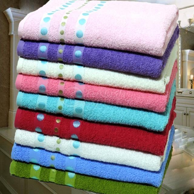 Bath Towel Spotty