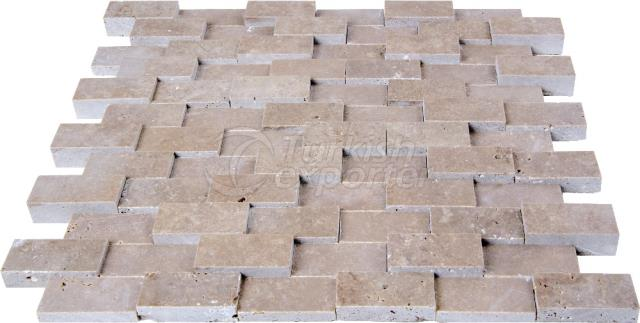 2,3x4,8 Cubic Brick Scabos Travertine