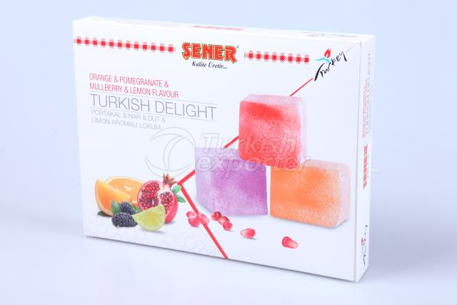 Turkish Delight with fruit flavors