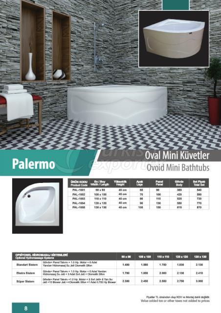 Ovoid Mini Bathtubs Palermo