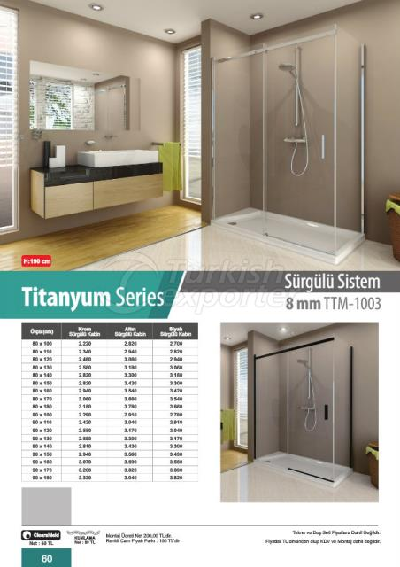 Shower Cabin Sliding Titanyum