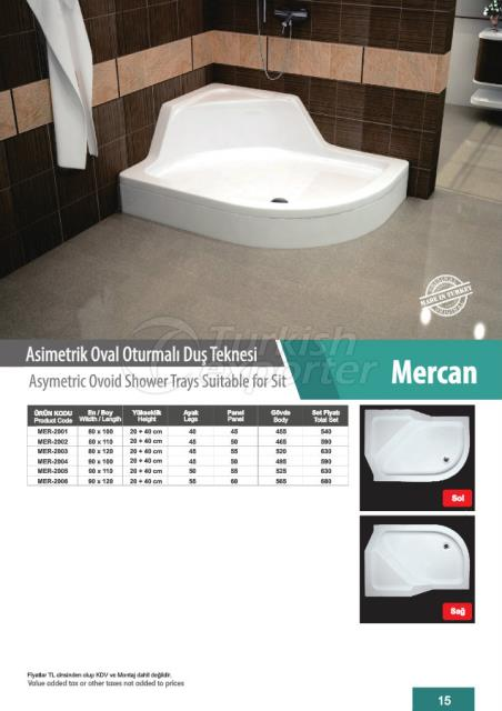 Asymetric Shower Tray Mercan