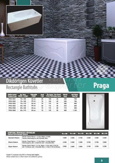 Rectangle Bathtubs Praga