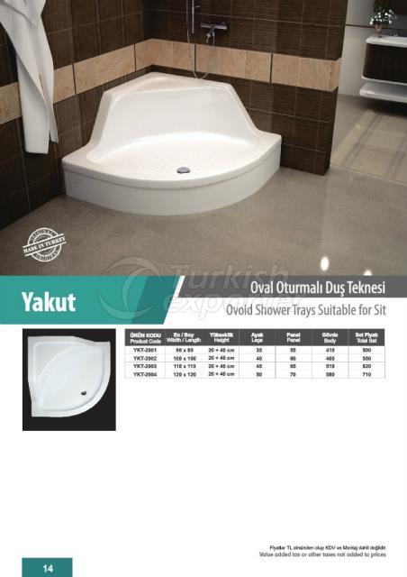 Ovoid Shower Trays Yakut