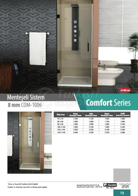 Shower Cabin Hinged Comfort