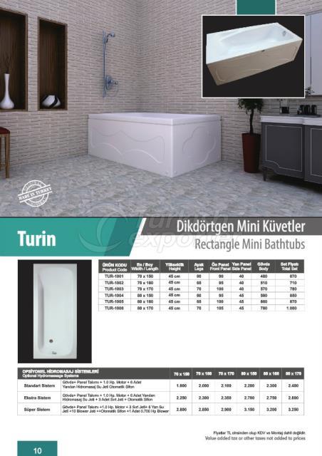 Rectangle Mini Bathtubs Turin