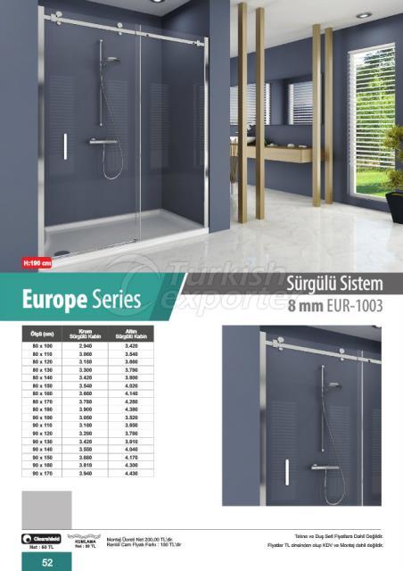 Shower Cabin Sliding Europe