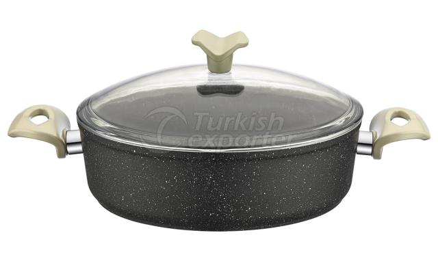 Granite Shallow Saucepan