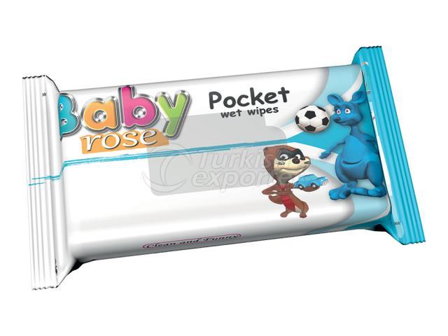 BABY ROSE POCKET WİPES BLUE