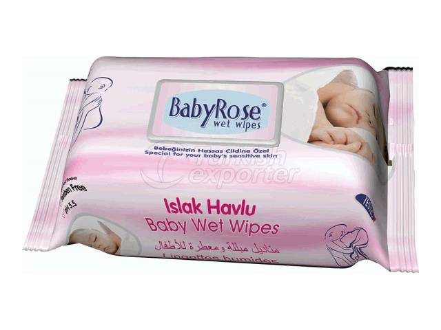 BABY ROSE BABY SERİES 4 WET WİPES