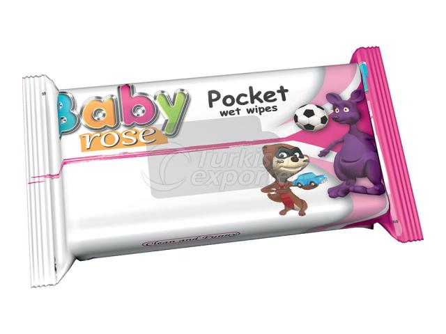 BABY ROSE POCKET WİPES PİNK