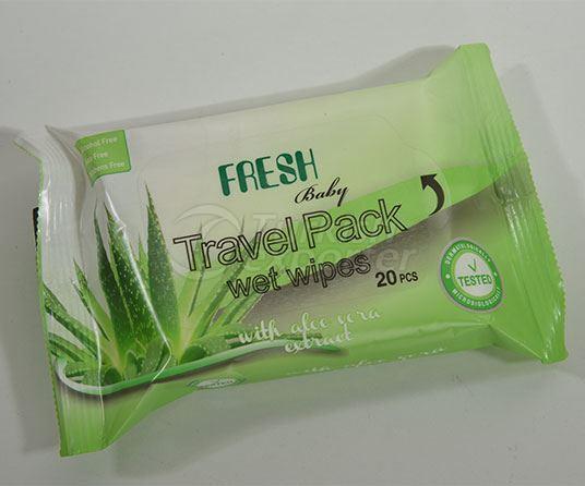 Fresh Baby Wet Towels Travel Pack - Aloe Vera