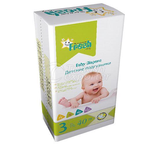 Fresh Baby - Midi Baby Diapers