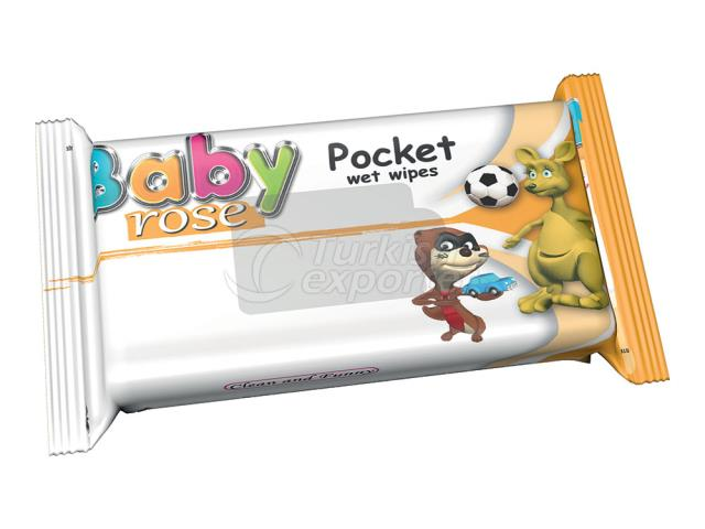 BABY ROSE POCKET WİPES YELLOW