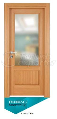 Eng. Teak Glazed Veneered Door
