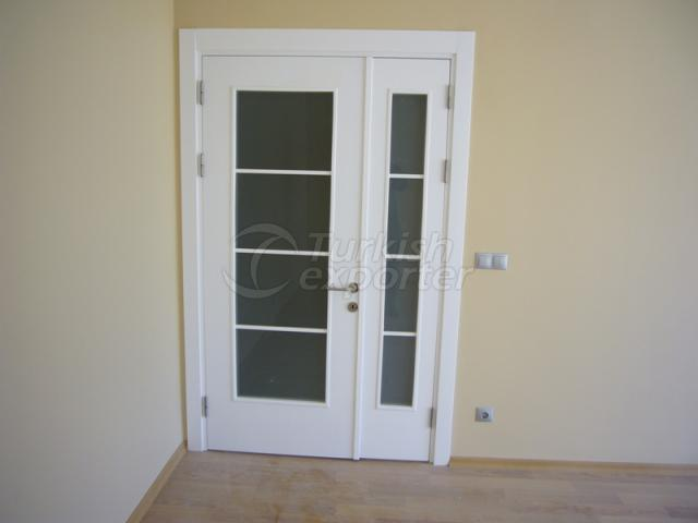 Lacquer Paint Double Glass Door